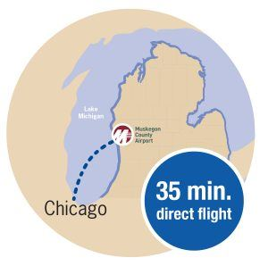 Flight to Chicago Graphic