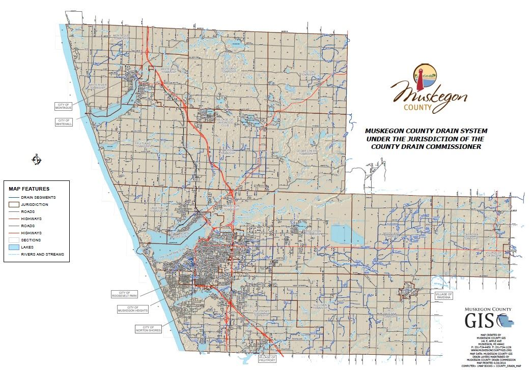 Click to Explore the Muskegon County Drain System Under the Jurisdiction of the County Drain Commiss
